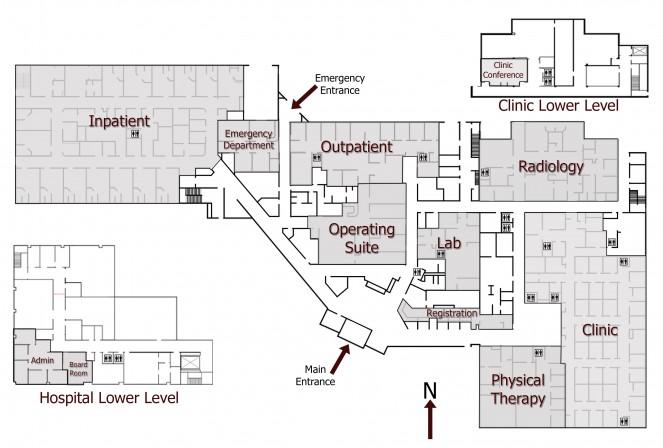OAHS Hospital / Clinic map